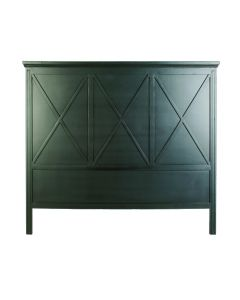 """Carlton"" Hamptons Style Timber Bedhead Queen Size in Black"