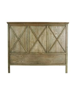 """""""Carlton"""" Hamptons Style Timber Bedhead Queen Size Elm Colour"""