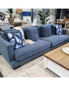 """Oasis"" Hamptons Style 3.5 Seater Lounge Sky Blue, 282cm x 112cm"
