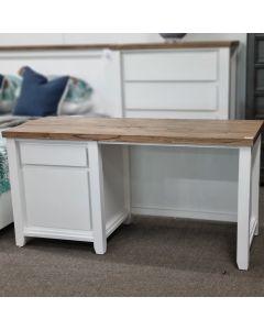 """Jefferson"" Hamptons Style Timber Desk Two Tone,  150cmL x 60cmD x 75cmH"