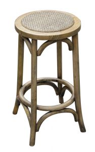 """Noosa"" Oak Kitchen Counter Bar Stool Natural Oak, 35cmL x 35cmD x 65cmH"