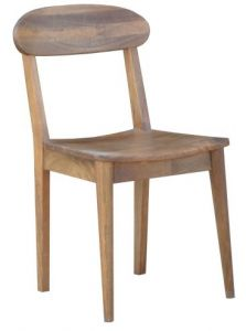 """Retro"" Solid Hardwood Timber Dining Chair in Dark Oak Colour"