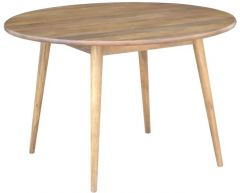 """Retro"" Hardwood Round Dining Table in Dark Oak Colour 120cm Diameter FLOOR STOCK"