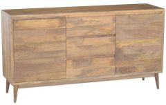 """Retro"" Hardwood Side Board Buffet Oak Colour 170cm"