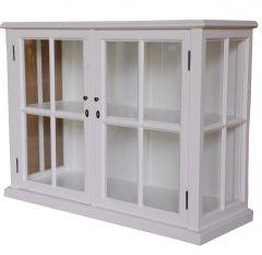 """Sommersby"" Hardwood White Timber 2 Door Glass Buffet"