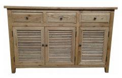 """""""Palm Beach"""" Timber 3 Door Sideboard Buffet 140cm Oak"""