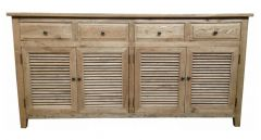 """Palm Beach"" Timber 4 Door Sideboard Buffet Oak, 180cm x 45cm x 90cmH"