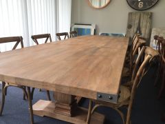 """Montego"" Solid Hardwood Timber Extension Dining Table + 8 x Noosa Chairs Package"