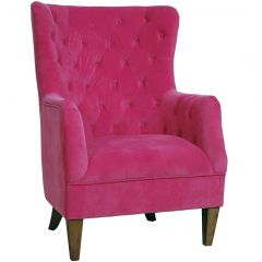 """Estate Velvet Occasional Armchair in Pink"