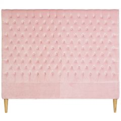 """Estate"" Velvet Bedhead in Pale Pink"