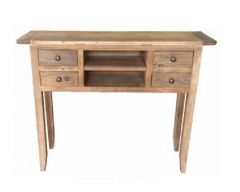 """St Albany"" Recycled Elm Timber Hall Table Narrow Console 100cmW x 28cmD x 80cmH"