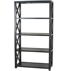 """Carlton""  Shelf Unit in Black, 100x45x185cm"