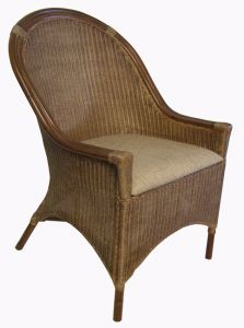 """Rangoon"" Hampton Style Loom Occasional Arm Chair"
