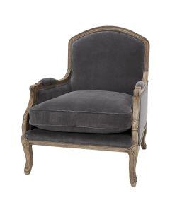 """""""Lannister"""" Velvet Armchair in Slate"""