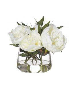 Peony Rounded Classic Bowl 22cm White Hampton Style Decoration