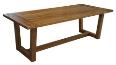 """Barbados"" British Colonial Style Timber Dining Table Rustic 220 x 100 x 76cm"