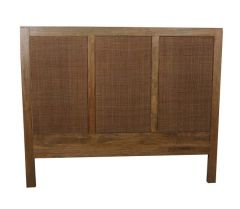 """Barbados"" British Colonial Style Timber Queen Bed Headboard Rustic 160 x 130 cm"