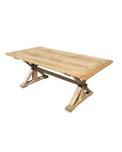 """Barcelona"" Hamptons Style Solid Elm Dining Table, 198cm x 100cm x 78cmH"