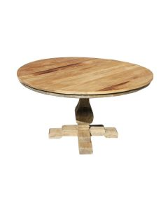 """""""Barcelona"""" Hamptons Style Solid Elm Round Dining Table, 140cm x 78cmH"""