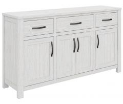 """Avalon"" Coastal Style Timber Buffet Sideboard Whitewash, 158cmL x 41cmD x 88cmH"
