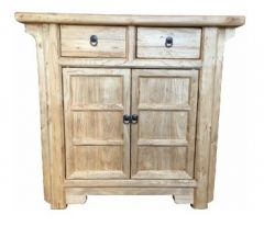 Shanghai Chinese Antique Reproduction Recycled Elm 2 Drawer 2 Door Cabinet