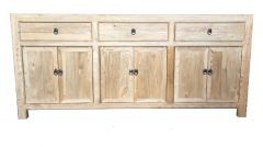 Shanghai Chinese Antique Reproduction Recycled Elm 3 Drawer 6 Door Sideboard