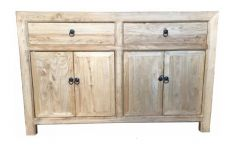 Shanghai Chinese Antique Reproduction Recycled Elm 2 Drawer 4 Door Sideboard