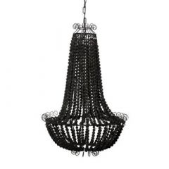 Wire and Ball Chandelier - Black