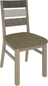 """""""Beachside"""" Hardwood Timber Dining Chair with Fabric Seat"""