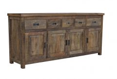 """Tuscany"" Hampton Style Timber Sideboard Buffet Parquetry Antique Natural, 200cmL x 50cmD x 90cmH"