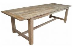 Farmhouse Style Rustic Provincial Recycled Elm Timber Dining Table, 240 x 95cm