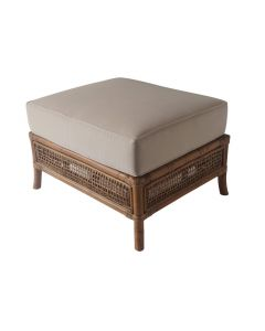 """Havana"" Hamptons & Plantation Style Rattan Ottoman with Cushion"