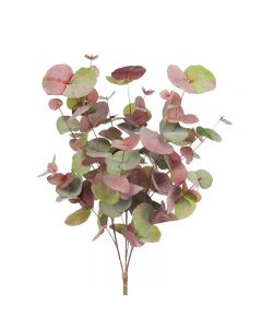 Hampton Style Eucalyptus Silver Dollar Bush Pink Grey Colour 55cm