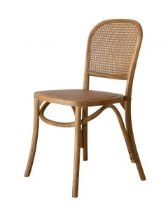 """""""Jamaica"""" Plantation Style Cane Weave Rattan Dining Chair Natural"""