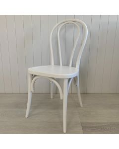 """""""Bentwood"""" Coastal Hamptons Style White Timber Dining Chair with Timber Seat"""
