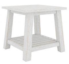 "CLEARANCE SALE ""Plantation"" Hampton Style Hardwood Timber Lamp Table 55x55x55cm Whitewash (RRP $299)"