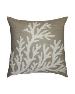 Collaroy Hamptons Style Embroidered Natural Cushion 50cm