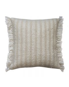 Wallis Hampton Style White/ Natural Cushion 50CM
