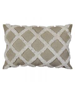 Avoca Check Hampton Style Natural Cushion 40X60CM