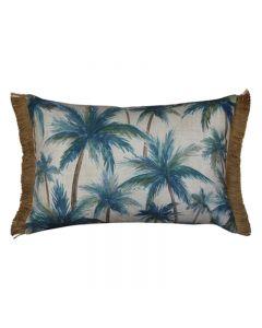 Palms Hampton Style Blue Cushion 40X60cm