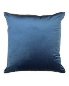 Clifton Hampton Style Ink Velvet Piped Cushion 55cm