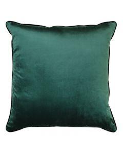 Clifton Hampton Style Forrest Velvet Piped Cushion 55cm