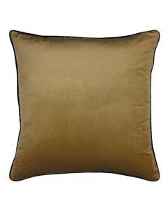 Clifton Hampton Style Wheat Velvet Piped Cushion 55cm