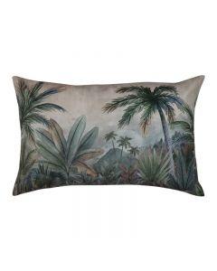 Sanchez Hampton Style Blue Green Velvet Cushion 40X60cm
