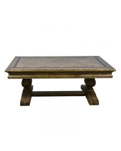 """Oxford"" American Oak Hardwood Coffee Table with Pedestal 130x75x50cm"