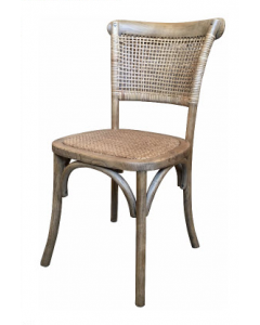 """""""Capri"""" Plantation Style Cane Weave Rattan Dining Chair Natural"""