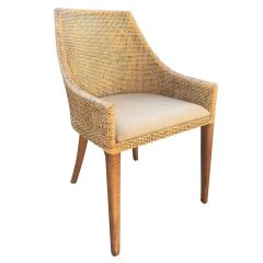 """Avoca"" Hampton Style Rattan Dining Chair Natural"