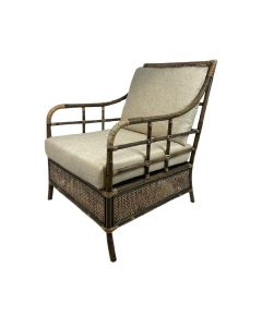 """Caribbean"" British Colonial Style Alfresco Rattan Armchair, 70cmL x 89cmW x 95cmH"