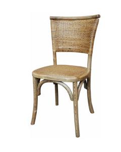 """Islander"" Plantation Style Cane Weave Rattan Dining Chair Natural, 45cm x 53cm x 89cmH"