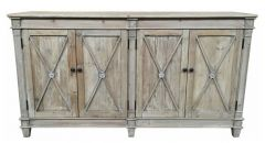 """New Hampshire"" Recycled Timber Buffet with 4 Doors White Wash, 165cmL x 40cmD x 90cmH"